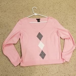 New York and Company argyle sweater